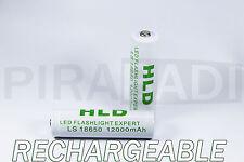 1 PILE ACCU RECHARGEABLE HLD 18650 LI-ION 3.7v 12000mAH BATTERY BATTERIE • PRO •