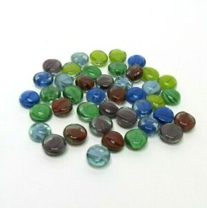 2004 Mancala Game Replacement Parts Pieces - 42 Gemstone Marble Playing Pieces