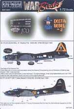 Kits World Decals 1/72 BOEING B-17 FLYING FORTRESS Swamp Fire & Delta Rebel II