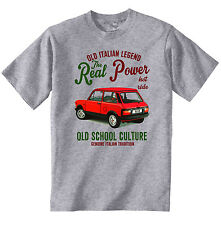 VINTAGE ITALIAN CAR AUTOBIANCHI A112 ABARTH  - NEW COTTON T-SHIRT