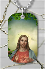 JESUS CHRIST THE LORD DOG TAG PENDANT NECKLACE FREE CHAIN -g56n7