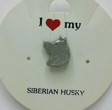 I Love My _ Siberian Husky _ Dog Pin _ Rawcliffe Pewter 1983