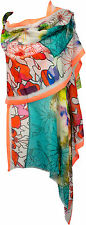 Sommer Schal Baumwolle Multicolor türkis neon Digitataldruck scarf cotton