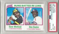 1980 Topps #203 RBI LDRS , PSA 8 NM-MT, DAVE WINFIELD -HOF / DON BAYLOR L@@K !