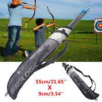 Portable Archery Arrow Quiver Holder Belt Back Strap Bag PouchBow Shoot Hunting