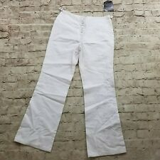 NWT Jeanology 10 White Embroidered Dragon 100% Jeans