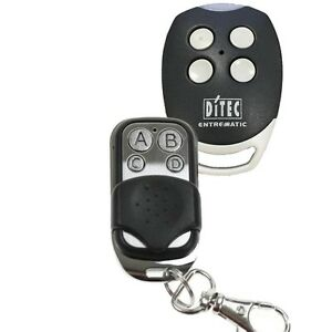 Remote Control Compatible with DITEC Entrematic Sliding or Swing Gate Motors