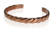 """Magnetic Copper Clad Power Golf Striped Therapy Long Cuff Bracelet 6.5"""""""