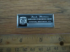 Nash Metal Display Plaque Diecast 1/43 1/18 Metropolitan Ambassador Rambler 1/24