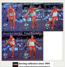 1999 AFL Tony Lockett 1300 Goalkicking Record Limited Edition 5-Card Set(5)-Rare