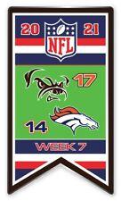 2021 Semaine 7 Bannière Broche NFL Cleveland Browns Vs.Denver Super Bol Relié