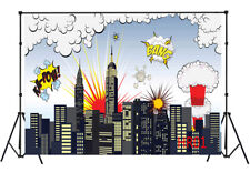 Lb 7X5Ft Superhero City War Vinyl photography Background Backdrop Studio Props