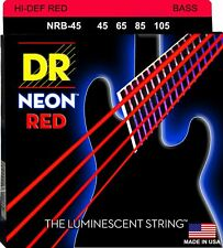 DR NRB-45 Neon Red Bass Guitar Strings gauges 45-105