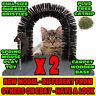 2 CAT GROOMING PLAY ARCH SPRING SWAY TOY MASSAGE MASSAGER SCRATCH SCRATCHER POST