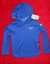 Under Armour Pull Over Long Sleeve Hoodie Blue size Youth Xs/4,5 retail $59.99