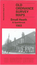OLD ORDNANCE SURVEY MAP BIRMINGHAM SMALL HEATH & SPARKBROOK 1903