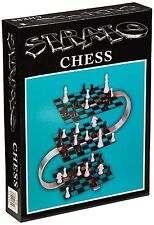 3D Chess Set Strato Stainless Steel Strategy 3 Dimensional Game Modern Chessmen