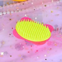 1pc girls rose plastic shampoo washing hair massager comb scalp shower brush MA