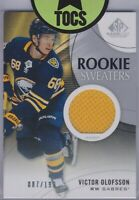 Victor Olofsson 2019-20 SP Game Used Rookie Sweaters Jersey 087/199 Sabres