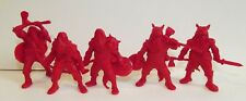 Plastic toy soldiers. Tehnolog. Ancient slavs. Wolfskins. Red color 1/32