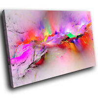 AB1207  pink colourful Modern Retro Abstract Canvas Wall Art Large Picture Print