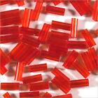 perline rocaille Tubi in vetro Trasparente 4x2mm Rosso 20g