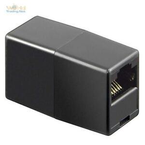 2 Stück CAT6 RJ45 Kupplung Adapter PatchKabel Verlängerung Netzwerk LAN DSL ISDN