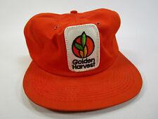 Vintage K-Brand Golden Harvest Co Op Orange Seed Farm Union Cap Hat Snap Back