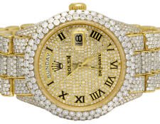 Rolex 18K Yellow Gold 18038 Day-Date President 36MM Diamond Watch 34.75 Ct