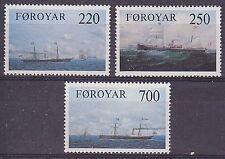 È Fær Øer. 1983 VECCHI CARGO FODERE sul FAR OER Run Set UM SG78-80 CAT £ 3.70
