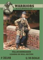 Warriors 1:35 Fallschirmjager Leaning on Wall Section - Resin Figure Kit #35148