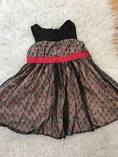 harajuku mini for target holiday christmas girl dress size 2t black red nude