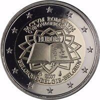 Belgien 2 Euro Münze 50 Jahre Römische Gedenkmünze 2007 PP im Etui
