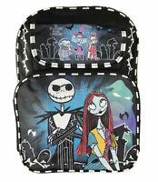 "Jack and Sally Black Backpack School Book Bag Backpack 16"" for Kids"