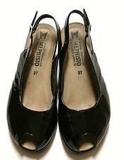 Mephisto Women's 'Nastasia' Peep Toe Slingback wedge cork sandal shoe sz.37 US 7