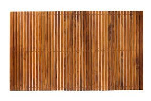 Nordic Style Oiled Extra Large Teak String Mat with Rubber Footing 59″ x 35″