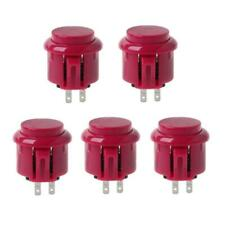 5pcs 24mm Arcade Game Round Button Built-in Small Micro Switch For Jamma Mame