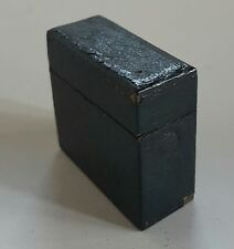 Antique Traveling Inkwell Black Leather 1890