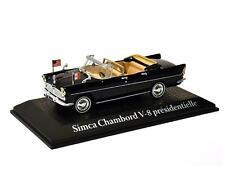 SIMCA Chambord V8 PRESIDENTIELLE-Kennedy/De Gaulle - 1/43 Escala Modelo Norev