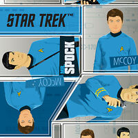 Star Trek Blue Uniforms Camelot 100% cotton fabric by the yard