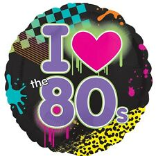 Official Party Product Anagram 18 Inch Foil Balloon Totally I Love The 80s