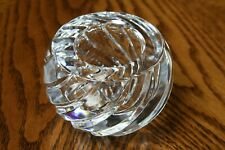Gorham Vintage Crystal Swirl Votive Candle Holder Made in Yugoslavia