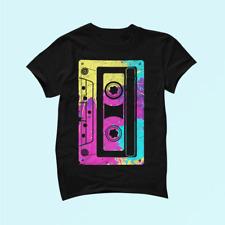Cassette Tape Mixtape Retro Music 80s and 90s Costume 100% Cotton Unisex _741