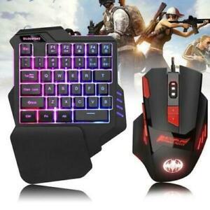 Mini One hand Gaming Keyboard & Mouse Hand Game Artifact Hand Game Keypad Laptop