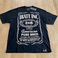 IRATE INC. Motorcross Black T-shirt American Pure Bred IR8 Size XL
