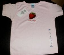 NEW CHILDREN'S T SHIRT PINK WITH STRAWBERRY MOTIF OLD NAVY SIZE 3T  2 - 4 YEARS
