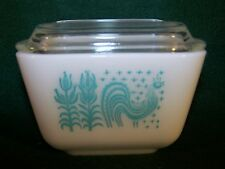 Pyrex Butterprint Turquoise Blue Amish Small Refrigerator Jar or Bowl Lid 4 1/4""