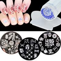 3 Design Set Nail Art Image Stamping Plate Template Manicure Stamper Scraper DIY