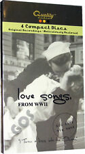 Love Songs From World War II 2 1940s 40s Big Band Of Original Music CDs New
