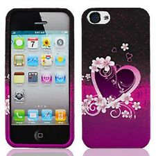 For Apple iPhone 5 5S SE HARD Protector Case Snap On Phone Cover Purple Love